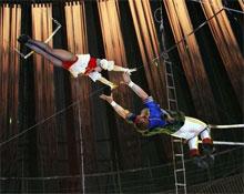 трапеции в цирке
